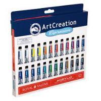 SET ACRILICO ART CREATION 24UD 12ML TALEN