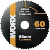 DISCO SIERRA WORXSAW WORX 85MM METAL Y PVC WA5036
